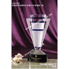 OG03003 高級水晶獎盃