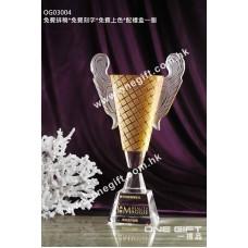 OG03004 高級水晶獎盃