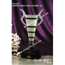 OG03005 高級水晶獎盃