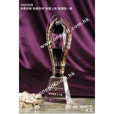 OG03008 鑽石切面高身水晶獎盃