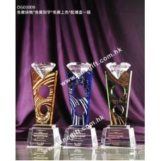 OG03009 鑽石切面水晶獎盃