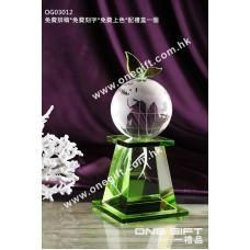 OG03012 地球水晶獎座
