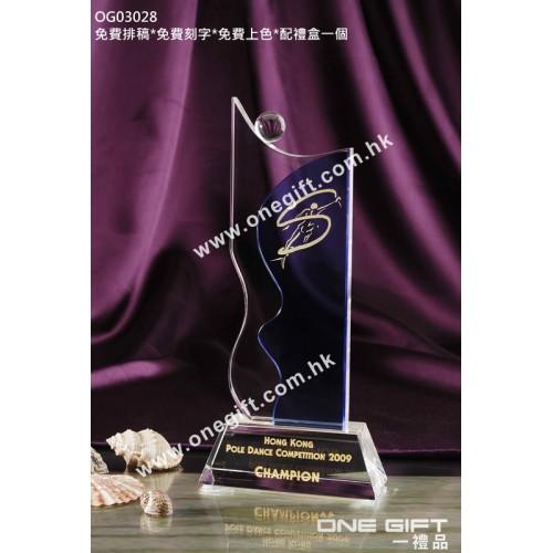 OG03028 流線人形水晶獎座
