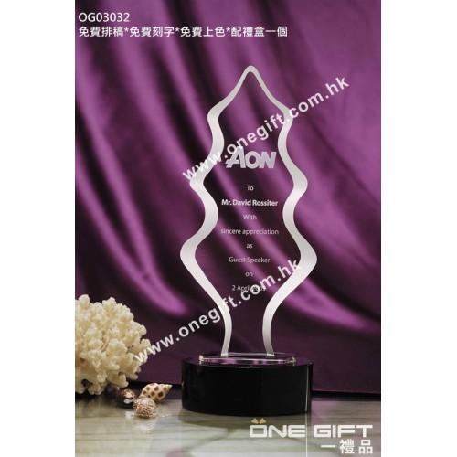 OG03032 樹形水晶獎座