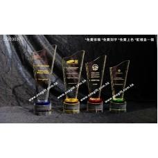OG03037 自由配搭顏色的高身水晶獎座 多為大型企業所採用