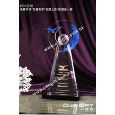 OG03066 高身高爾夫球水晶獎座