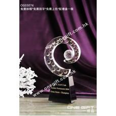 OG03074 高爾夫球水晶獎座