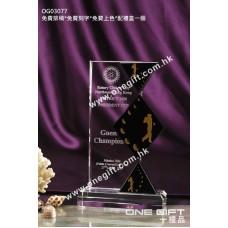 OG03077 高爾夫球水晶獎座