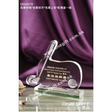 OG03078 高爾夫球水晶獎座
