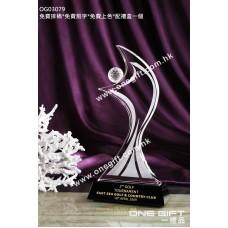 OG03079 人形高爾夫球水晶獎座