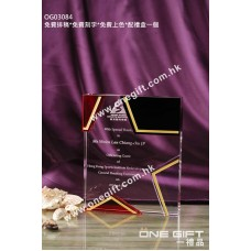 OG03084 星形水晶獎座