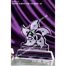 OG03122 洋紫荊花形水晶座