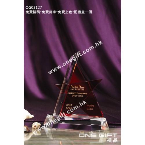 OG03127 三角星形水晶座