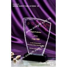 OG03163 溶冰紋水晶獎座