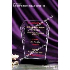 OG03165 溶冰紋水晶獎座