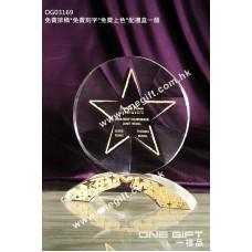 OG03169 圓形星星水晶獎座