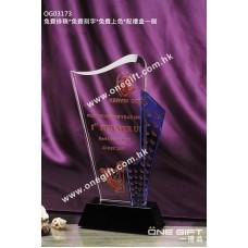 OG03173 流線形高爾夫球水晶獎座
