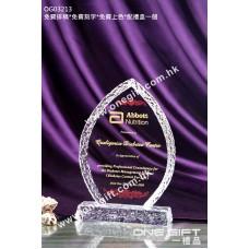 OG03213 外形獨特的水晶獎座