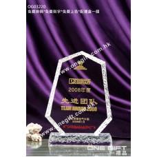 OG03220 外形獨特的水晶獎座