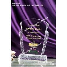 OG03233 外形獨特的水晶獎座