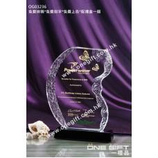 OG03236 外形獨特的水晶獎座