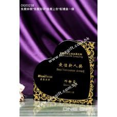 OG03238 心形水晶獎座