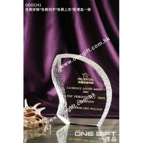 OG03241 外形獨特的水晶獎牌