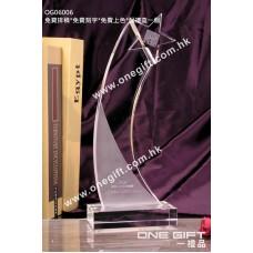 OG06006 全透明星星水晶紀念獎座
