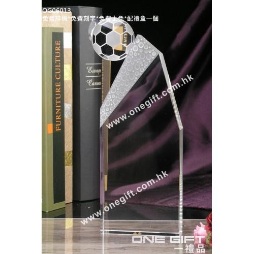 OG06013  全透明足球水晶座