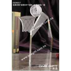 OG06017 全透明籃球水晶