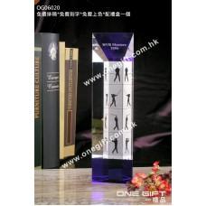 OG06020 全透明梯形柱體水晶