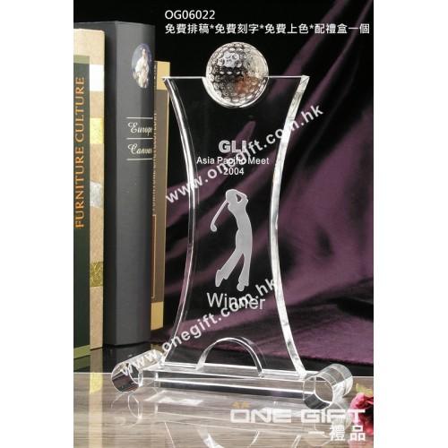 OG06022 全透明高爾夫球水晶