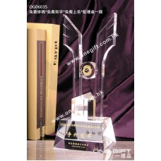 OG06035 全透明高爾夫球水晶獎盃
