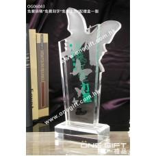 OG06043 磨砂蝴蝶水晶座