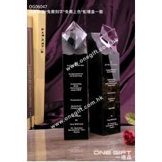 OG06047 鑽石水晶配黑水晶柱座