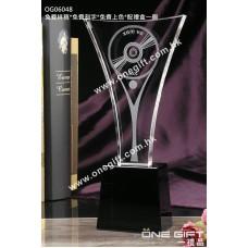 OG06048 全透明紀念水晶座