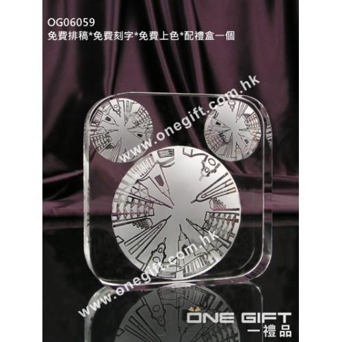 OG06059 正方形全透明紀念水晶