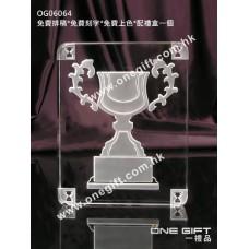 OG06064 全透明方形獎盃水晶