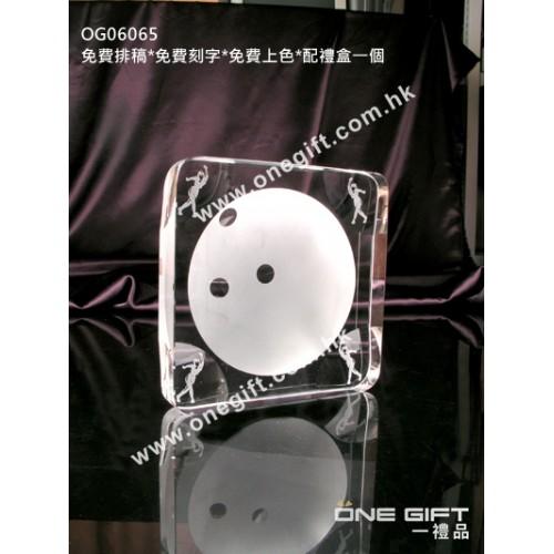 OG06065 全透明保齡球水晶
