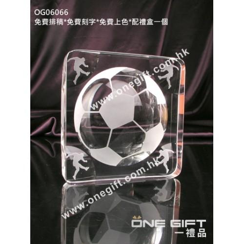 OG06066 全透明足球水晶