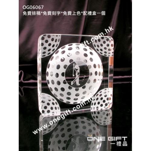 OG06067 全透明高爾夫球水晶