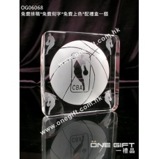 OG06068 全透明籃球水晶