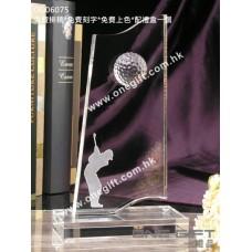 OG06075 全透明高爾夫球水晶