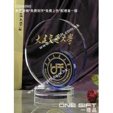 OG06080 圓形紀念水晶座