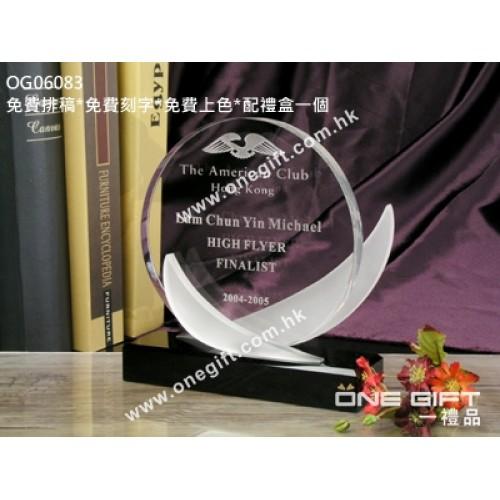 OG06083 圓形水晶座