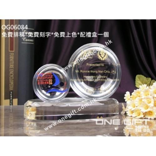 OG06084 全透明半球體水晶座