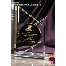 OG06092 水晶紀念座連黑水晶配件