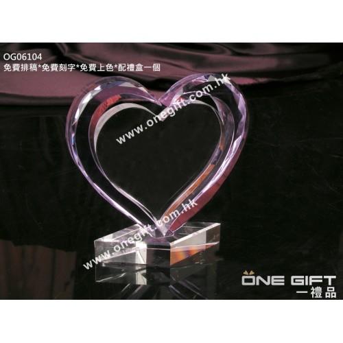 OG06104 心形紀念水晶