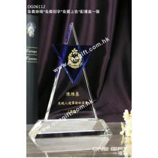 OG06112 藍色三角形水晶座