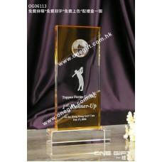 OG06113 高爾夫球紀念水晶座